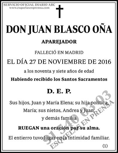Juan Blasco Oña